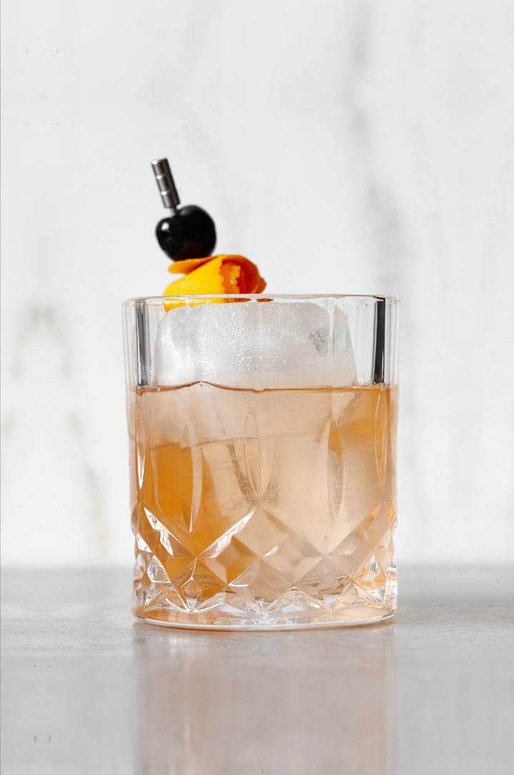 Gin Old Fashioned cocktail recipe from Bluecoat American Dry Gin - Fourth of July Gindependence Day cocktails