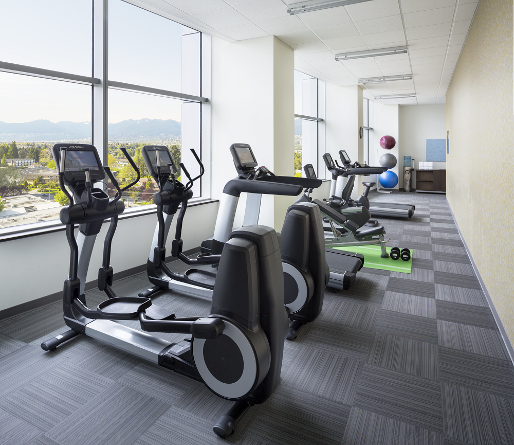 Marriott's Element hotels bring lots of natural light into the fitness centers.