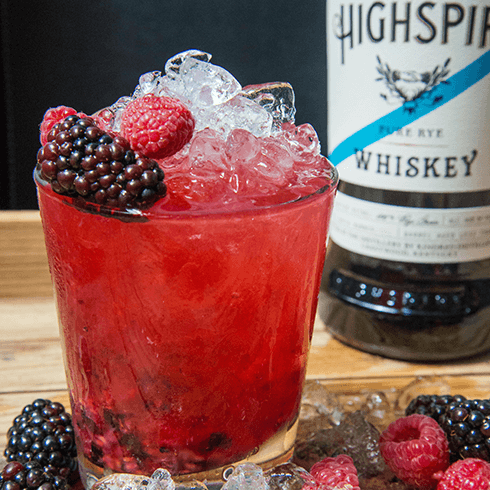 Highspire Pure Rye Whiskey Highspire Smash cocktail recipe - American spirits for 4th of July promotions