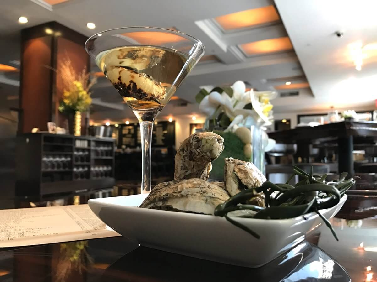 Oyster Brine Martini courtesy of James Nelson at BLT Steak - National Martini Day 2017 cocktail recipes
