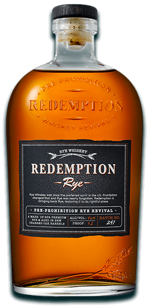 Redemption Rye whiskey - American spirits for 4th of July promotions