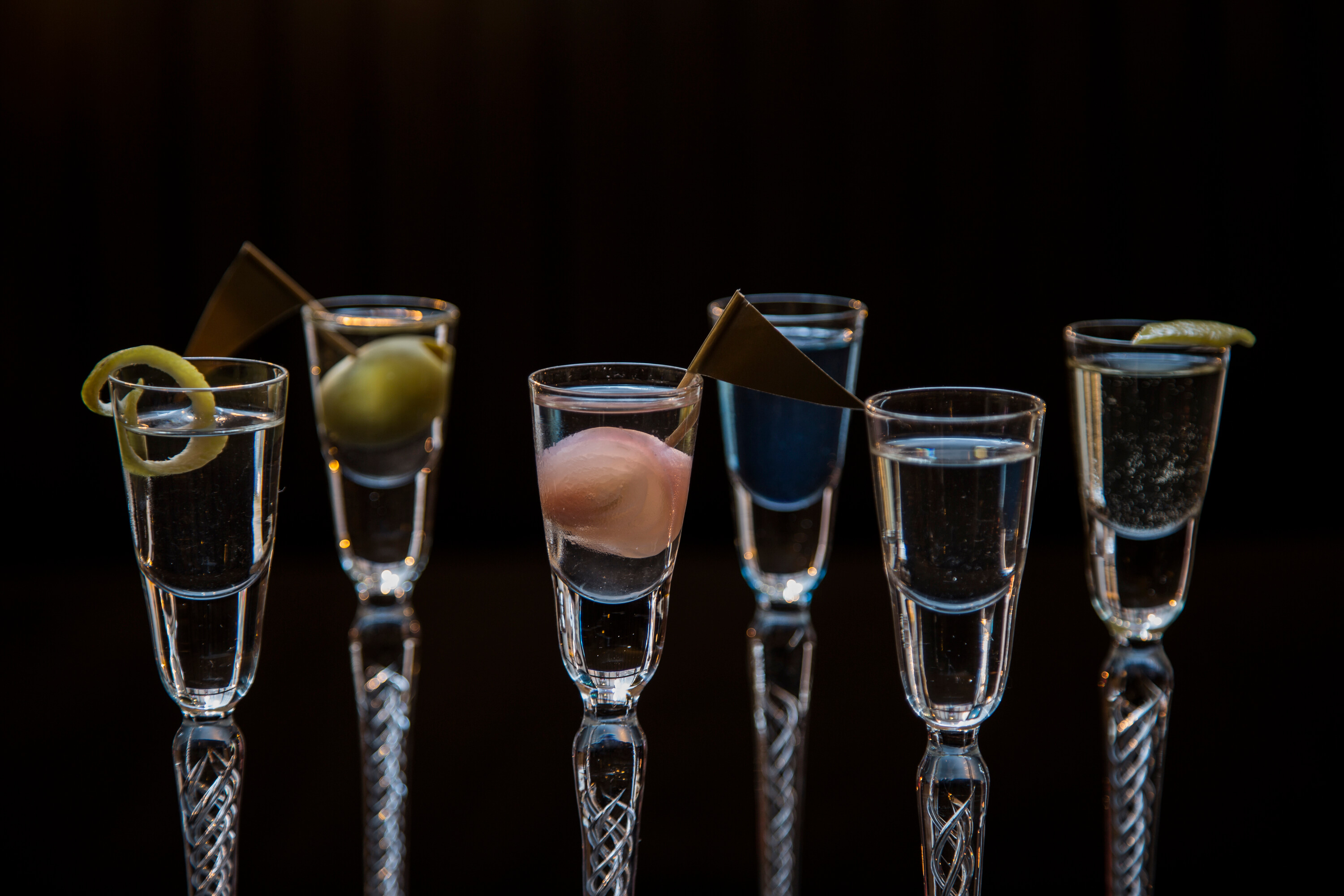 Tuxedo Martini and 6 mini Martini flight courtesy of Jess Lambert from Vol. 39 - National Martini Day 2017 cocktail recipes