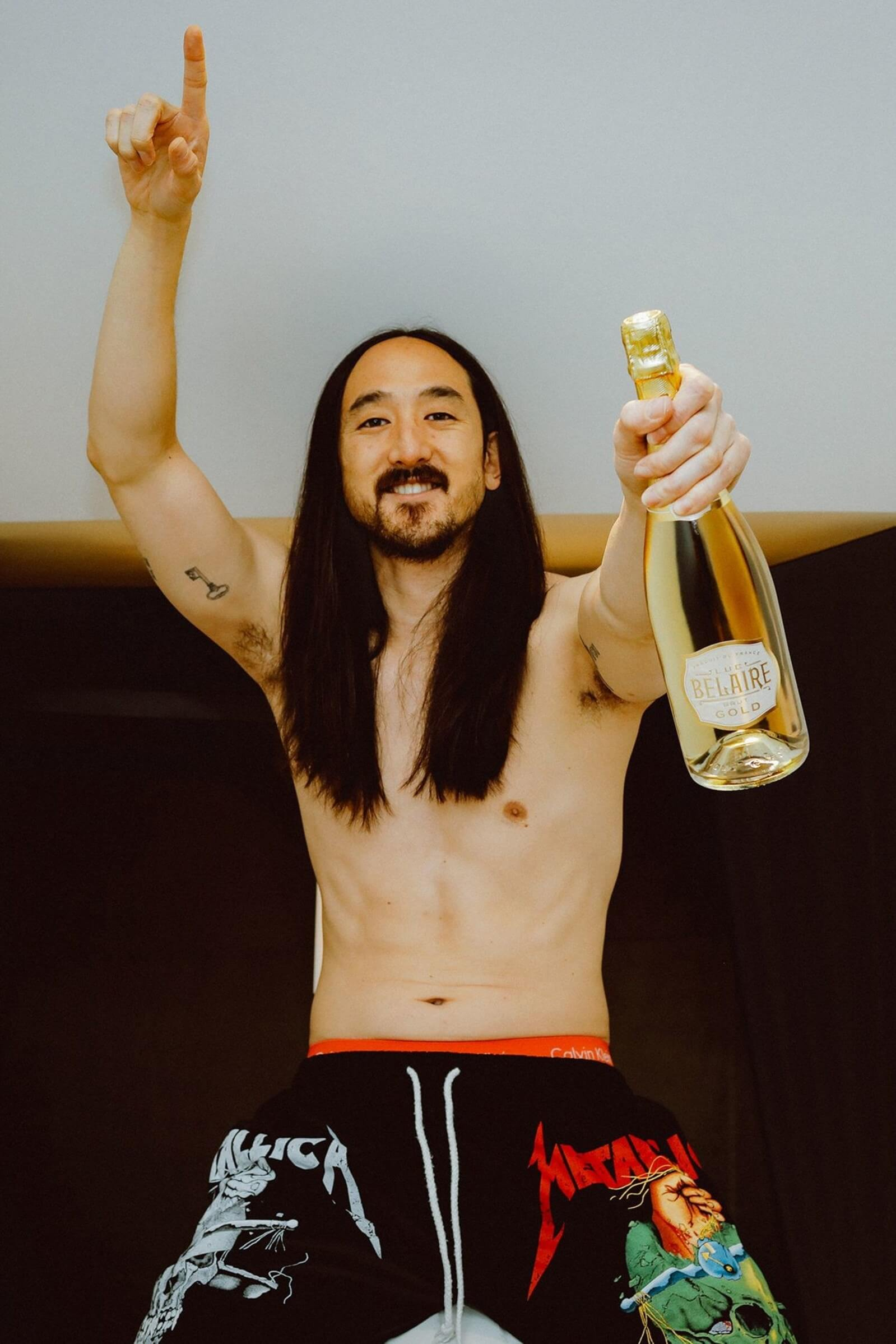 Luc Belaire names celebrity DJ Steve Aoki official global brand ambassador for launch of Luc Belaire Gold sparkling wine - What's Shakin' week of June 26