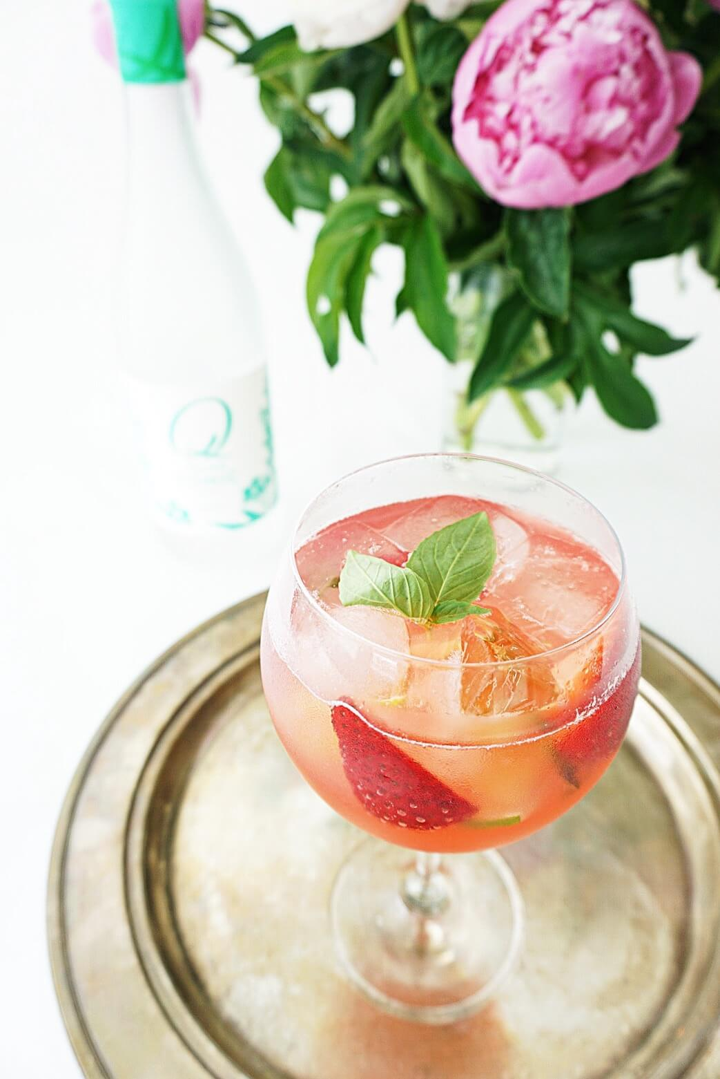 Strawberry Rhubarb G&T cocktail recipe - World Gin Day 2017 recipes