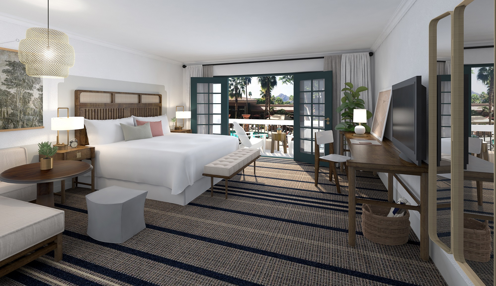 The second phase of the renovation, set for summer 2018, will revamp all 204 guestrooms.