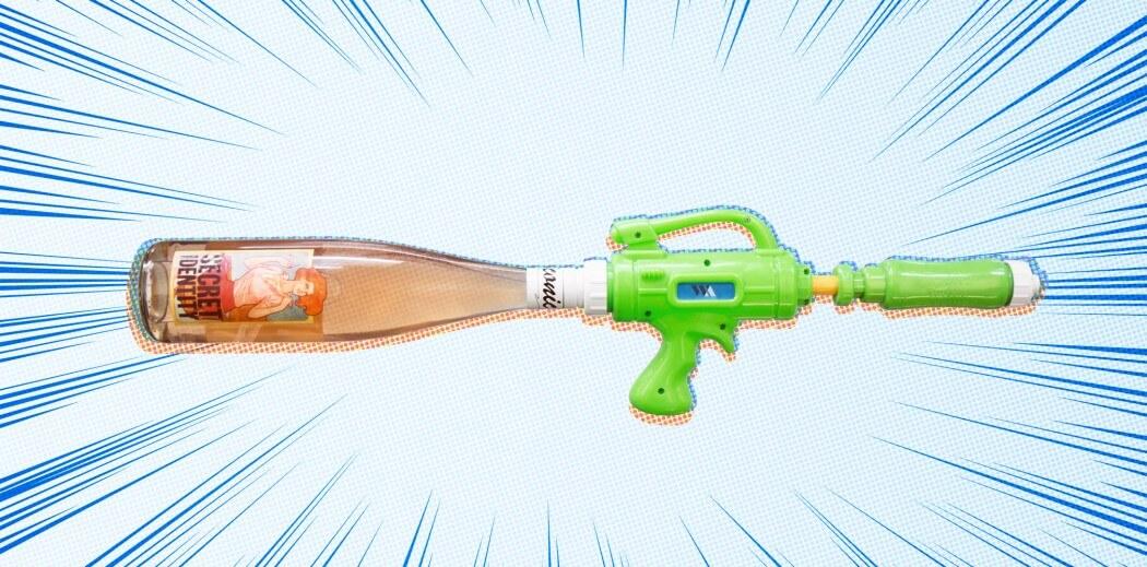 Wine Awesomeness Back Label Rose Water Gun - What's Shakin' week of June 5