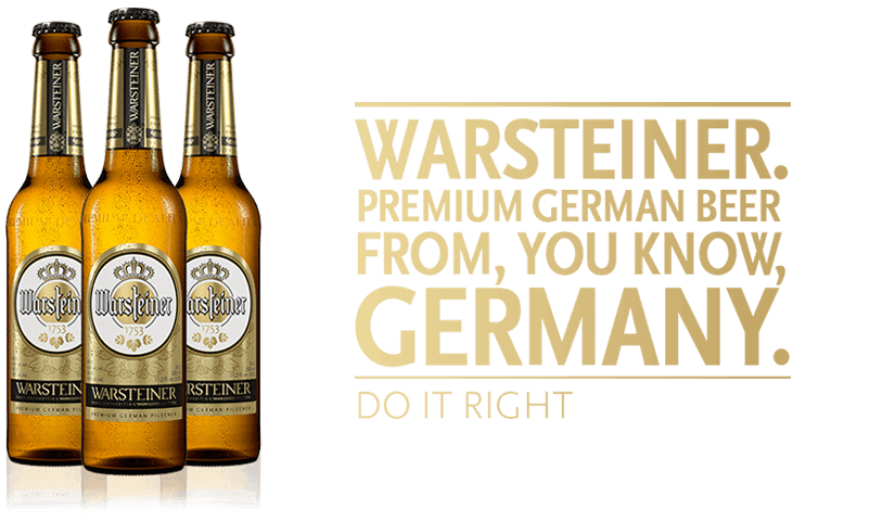 Warsteiner German beer brand refresh - What's Shakin' week of May 29