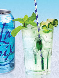 White Wedding mocktail made with Pure LaCroix Sparkling Water - Healthier summer drink recipes