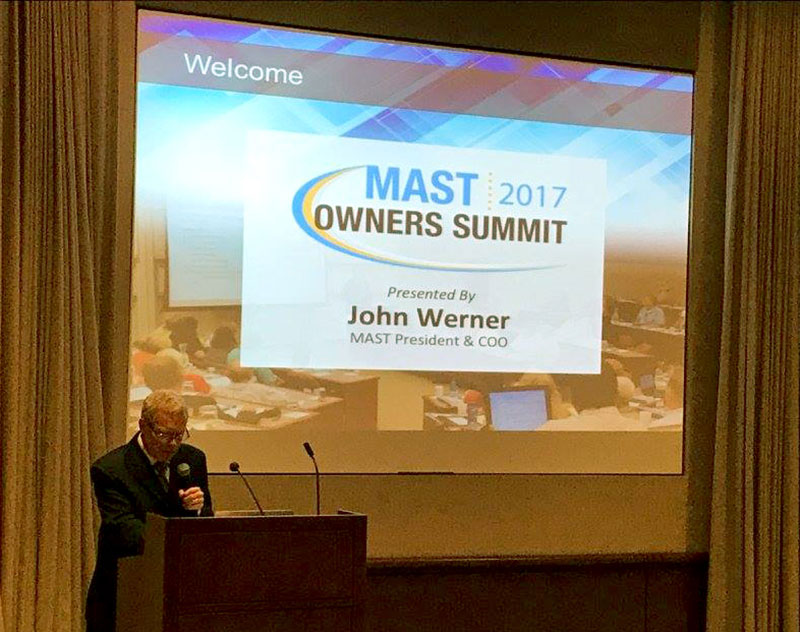 MAST President and COO John Werner lays out the organization's five-year plan