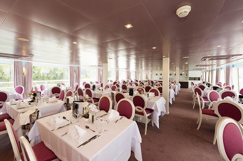 The ship's restaurant