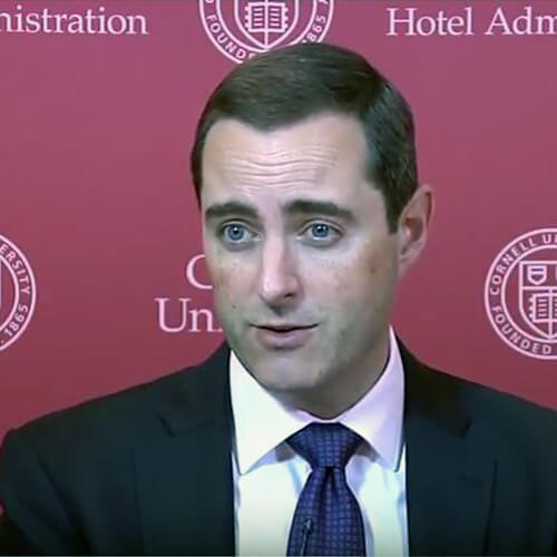 Keith Barr (Image: Cornell School of Hotel Administration on YouTube)