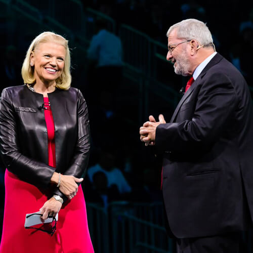 Yitzhak Peterburg with IBM CEO Ginni Rometty  (Image: IBM on Twitter)
