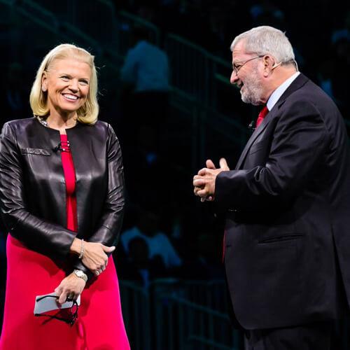 Yitzhak Peterburg with IBM CEO Ginni Rometty  (Image: IBM on Twitter)
