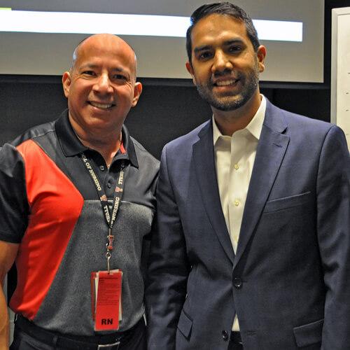 Nicholas Tejeda with Manny Santa Cruz, assistant dean of the Gayle Greve Hunt School of Nursing (Image: Texas Tech University Health Sciences Center El Paso)
