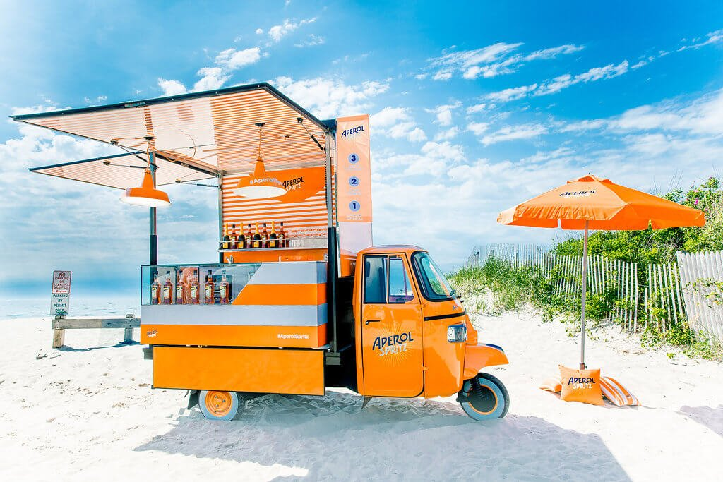 Aperol Spritz launches summertime Aperol Spritz campaign and invades the Hamptons with Ape Car - What's Shakin' week of July 10