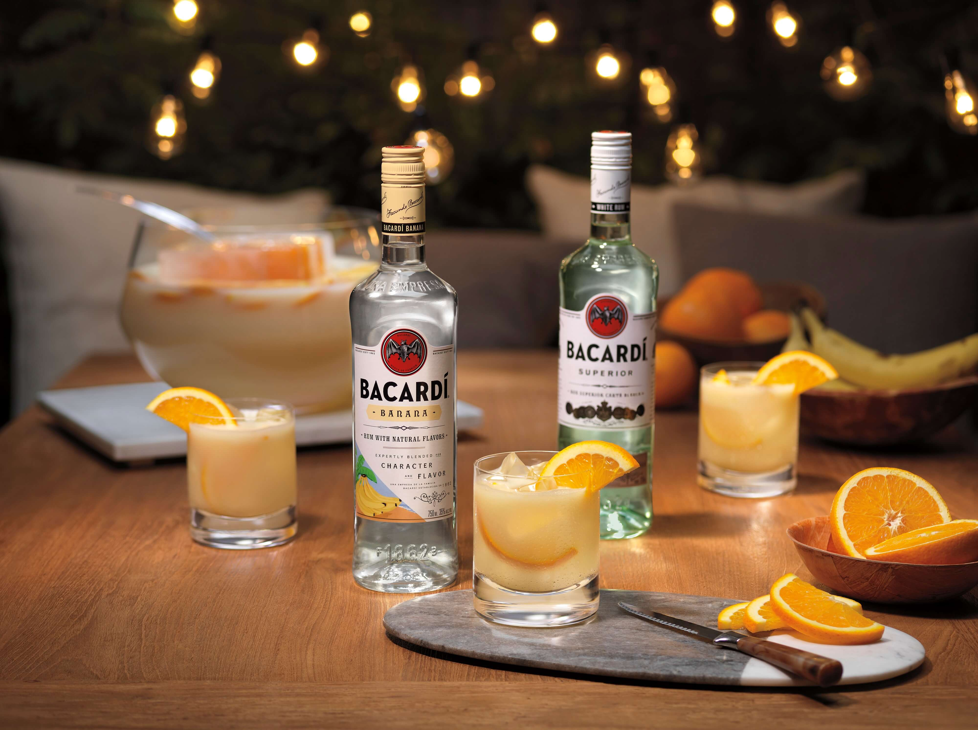 Bacardí Tropical Rum Punch cocktail - Piña Colada recipes for National Piña Colada Day and the summer