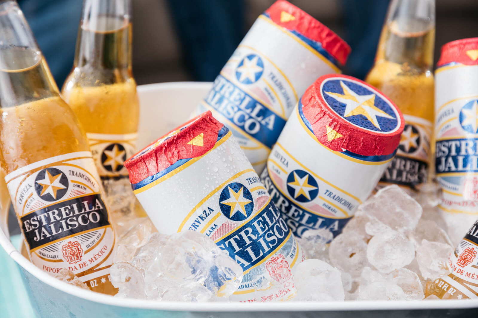 Estrella Jalisco puts foil top seals on canned beer - What's Shakin' week of July 24