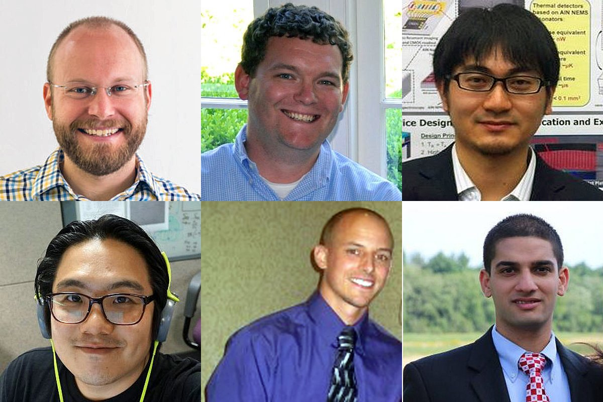 From left to right and top row to bottom row, the Vesper team is Robert Littrell, Ron Gagnon, Yu Hui, Wang-Kyung Sung, Adam Whittemore, and Shin Nagpal.