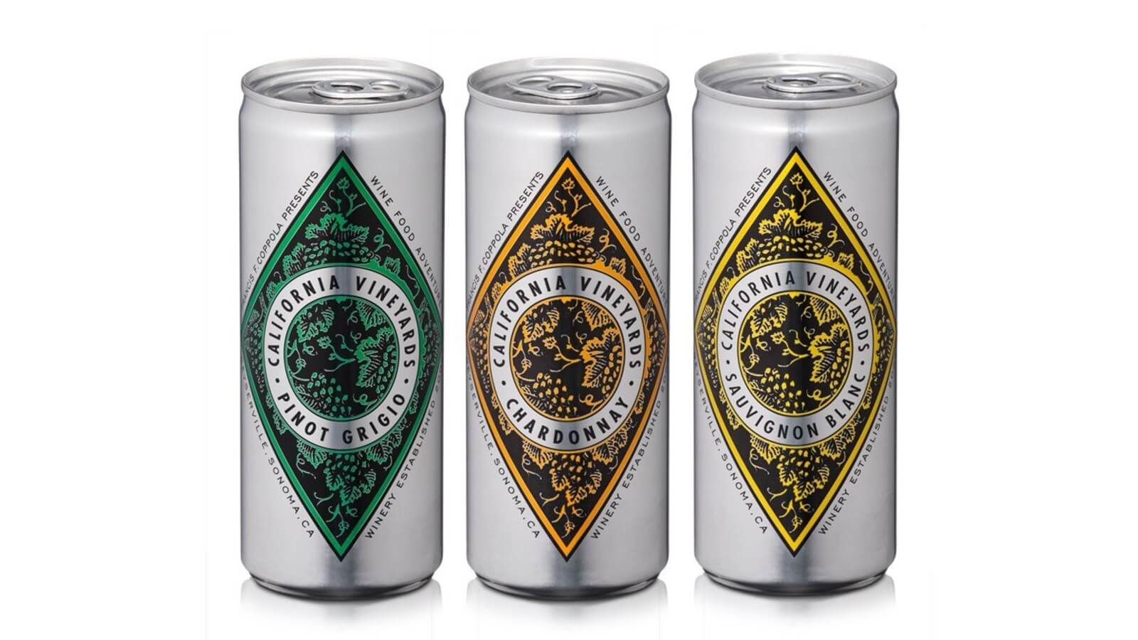 Francis Ford Coppola Winery launches Diamond Collection white wines in a can - What's Shakin' week of July 24
