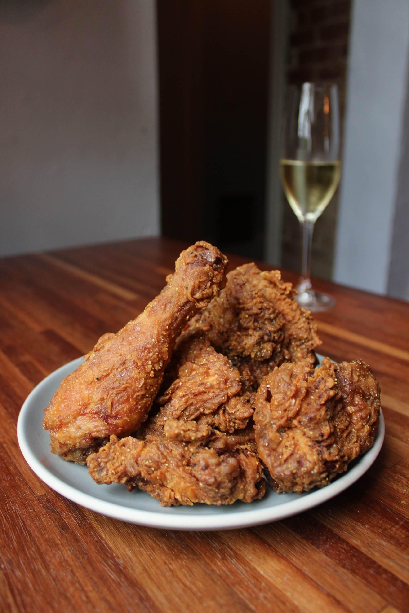Fried chicken and Champagne at Coquette in New Orleans - Fried chicken and sparkling wine pairings
