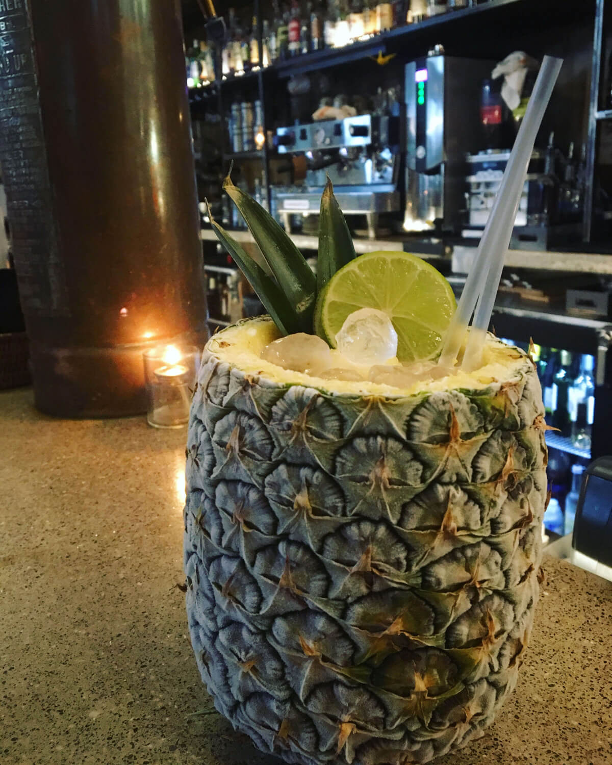 Peachy Keen Piña Colada at Royal DC - Piña Colada recipes for National Piña Colada Day and the summer