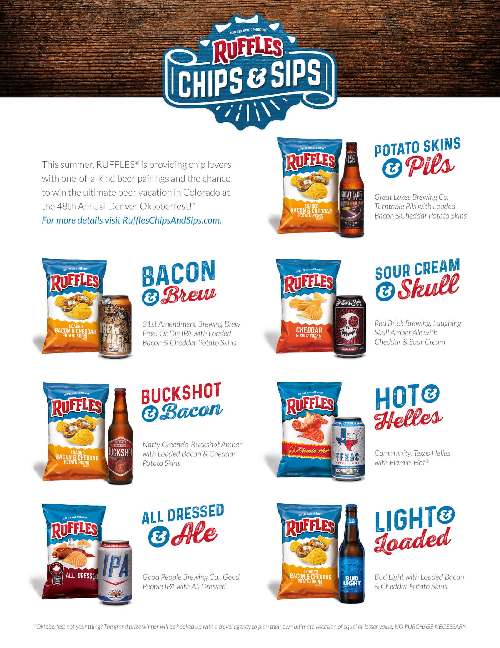 Frito-Lay Ruffles Brand Potato Chips partners with national and local craft breweries for Chips & Sips pairing guide - What's Shakin' week of July 24