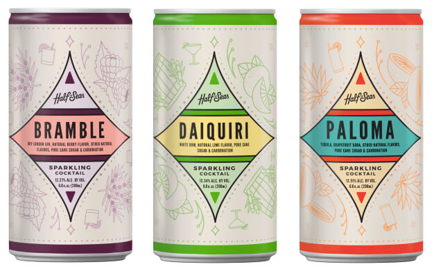 Scrappy's Bitters announces Half-Seas Sparkling Cocktails RTD cocktails in a can - What's Shakin' week of July 10