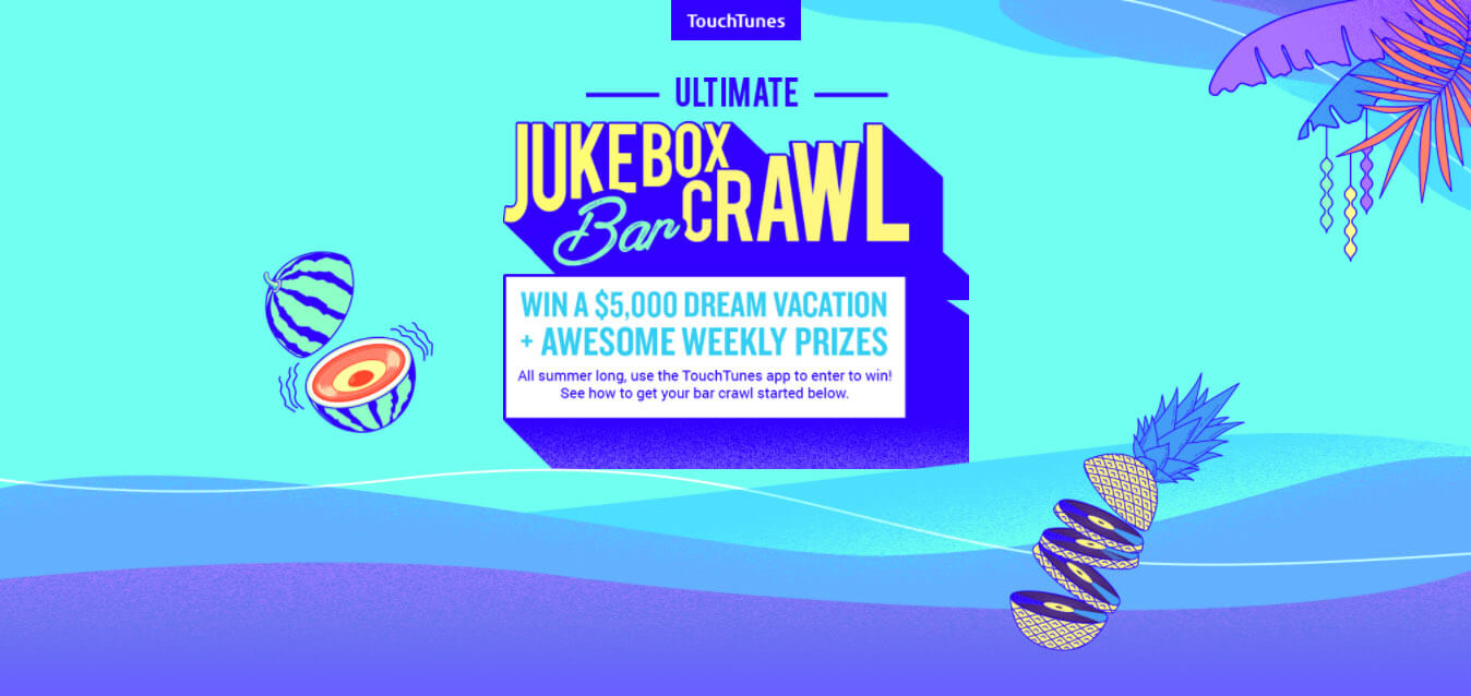 TouchTunes Ultimate Jukebox Bar Crawl contest - What's Shakin' week of July 3