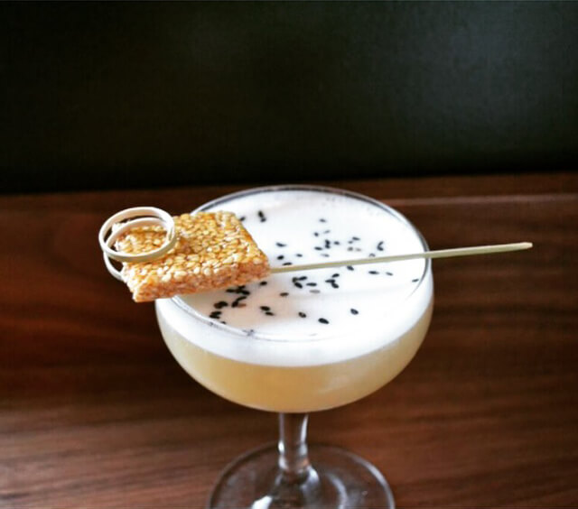 Whiskey ( sweet +) sour by Gabriella Mlynarczyk at Bar Accomplice - Sesame cocktail recipes