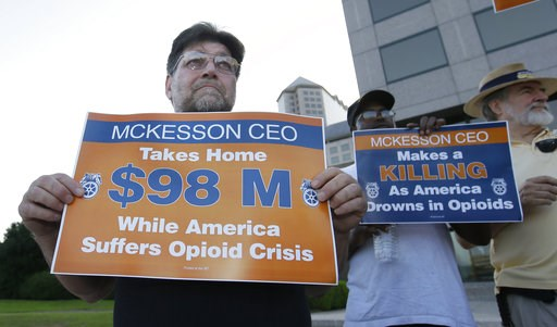 McKesson shareholders vote against exec pay structure