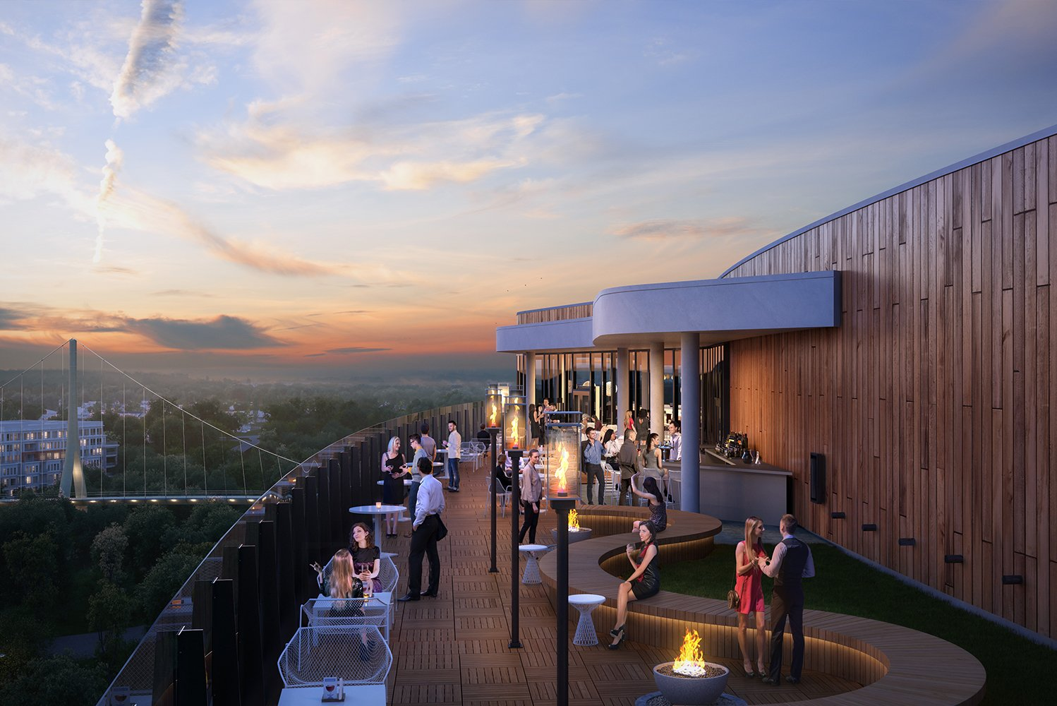 The rooftop restaurant will have woods, tile and copper accents, as well as Spanish-inspired art.