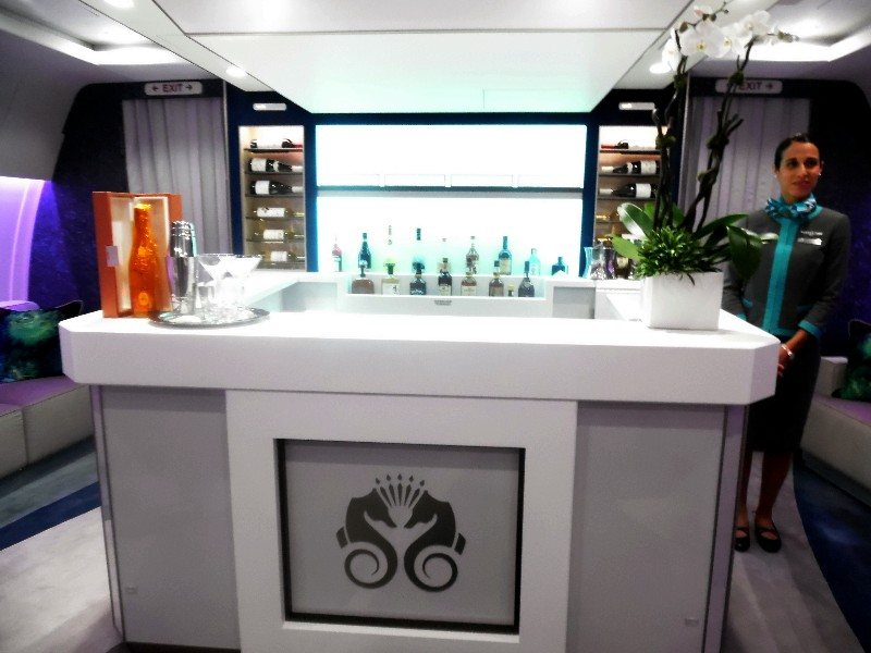The full-service bar within the social lounge on Crystal Skye will offer champagne, cocktails, beer, wine, spirits and sodas.