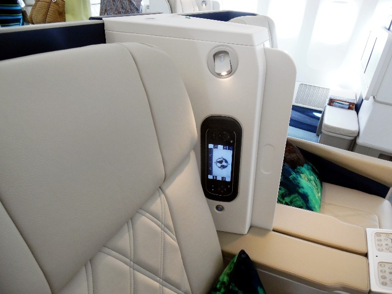 Crystal Skye seats have global phones and sliding privacy screens.
