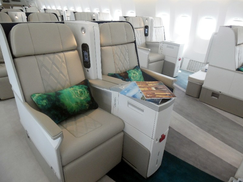 Crystal Skye's business class style seats are two by two by two
