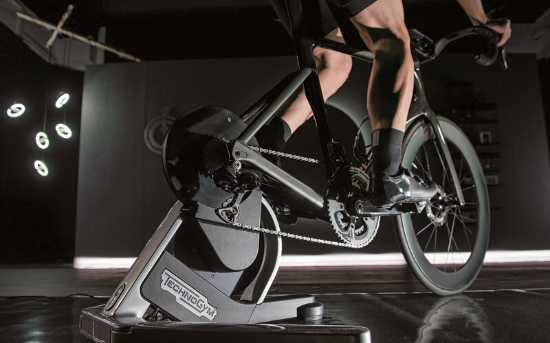 Technogym. MyCycling has a dedicated app for instant ride feedback.