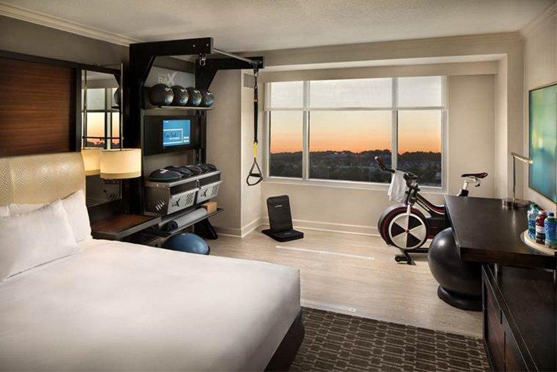 Ecore provided the flooring for Hilton's new Five Feet to Fitness suites.