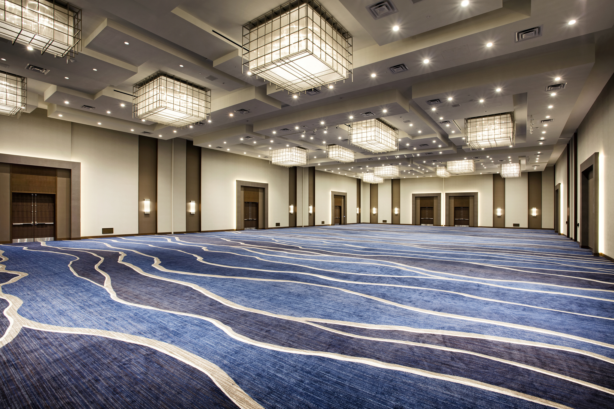 Brintons created a unique carpet pattern for the Ocean Ballroom at the Hilton West Palm Beach.