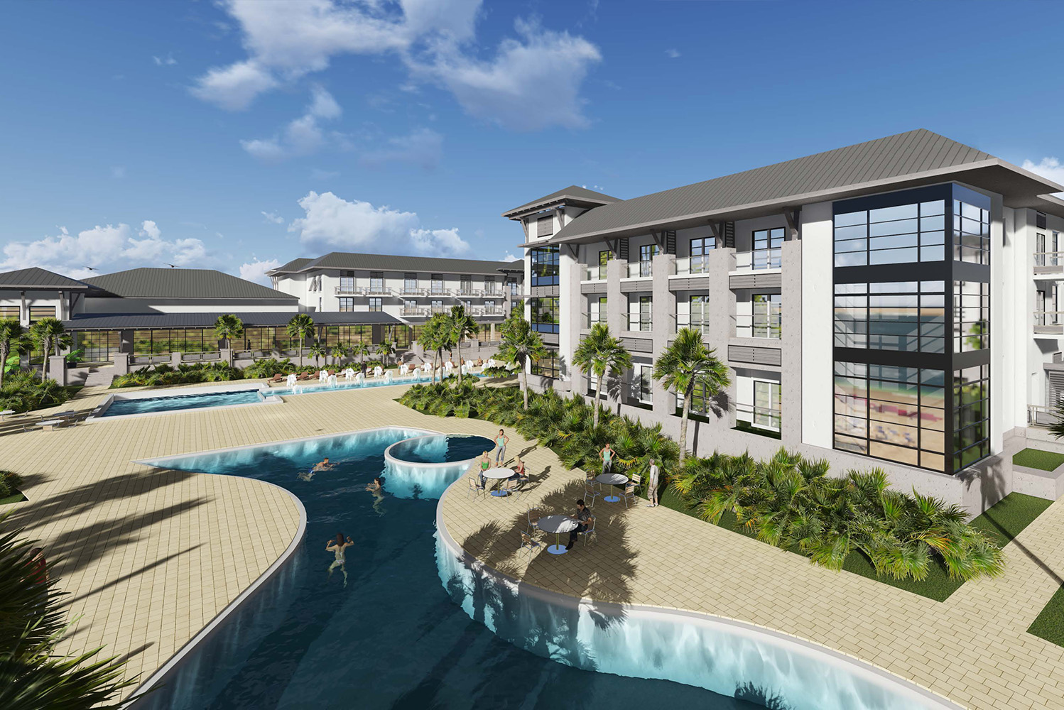 J Banks Design Pfvs Architecture Combine For Oceanfront Embassy Suites By Hilton In Florida