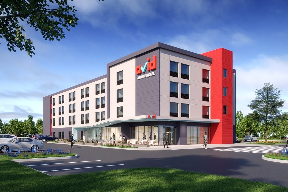 Avid hotels will have approximately 100 guestrooms and will be a minimum of three stories high.