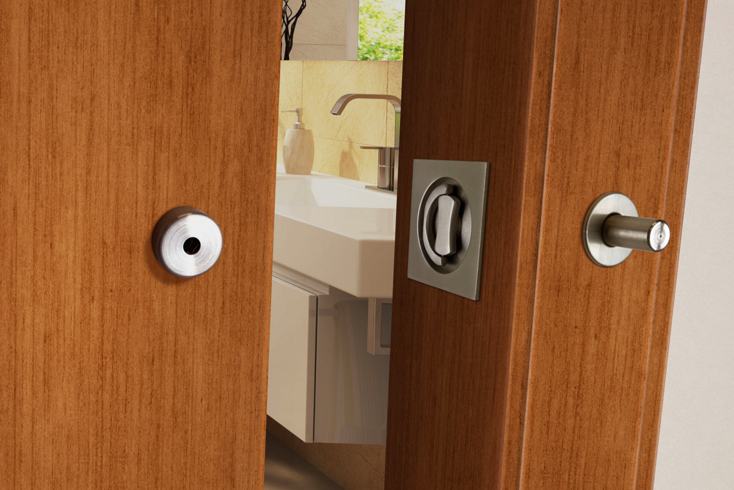 A safety release allows the lock to be disengaged from the outside in case of an emergency.