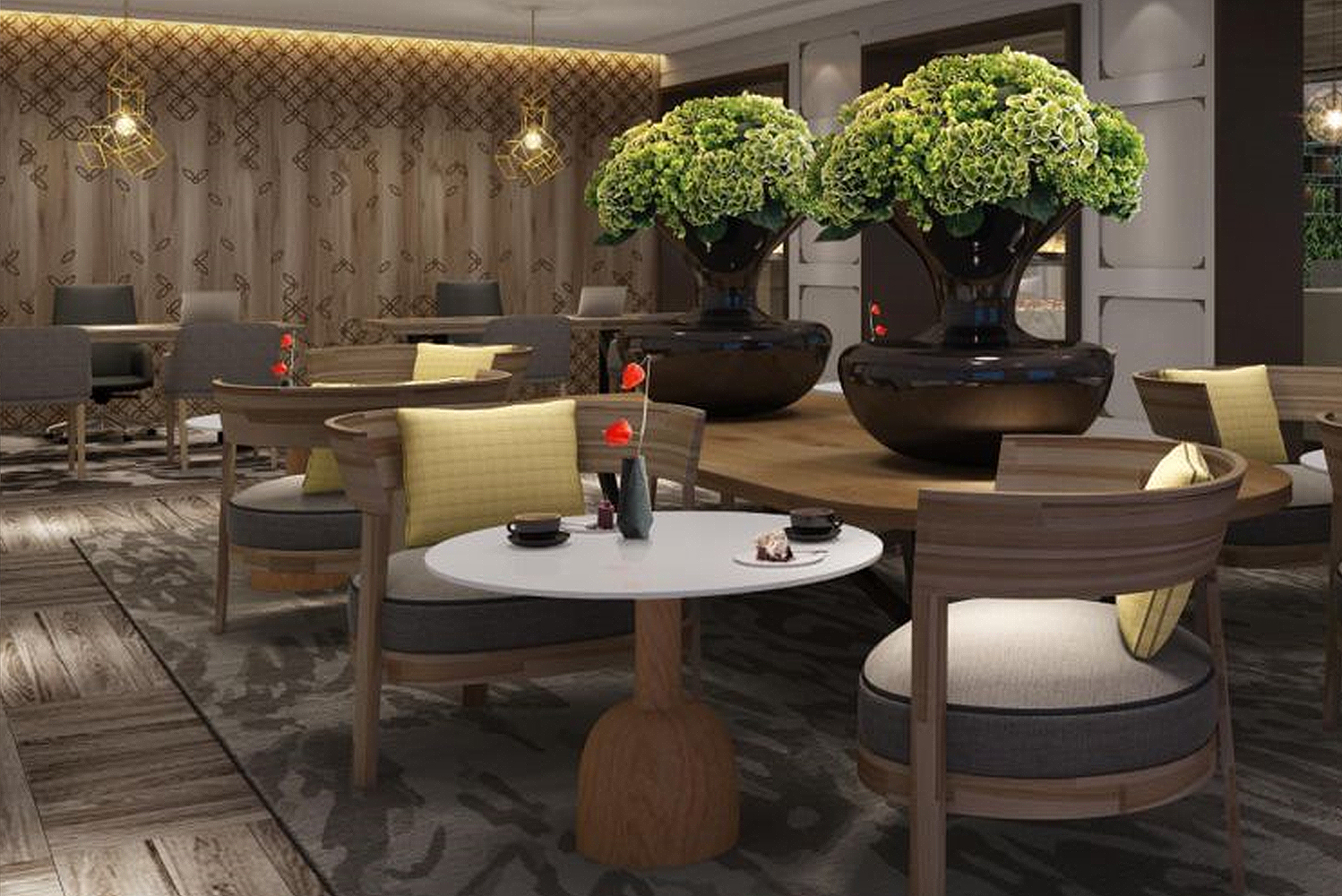 Guests staying in Club InterContinental rooms will have access to the Club InterContinental Lounge on the hotel's top floor.