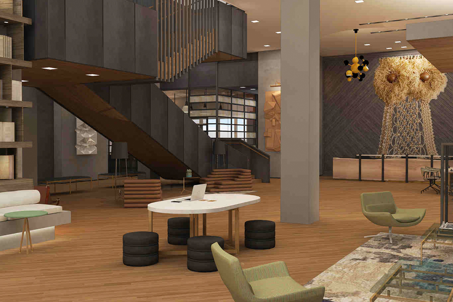 Powerstrip studio helps design kimpton s first project in for Palm springs strip hotels