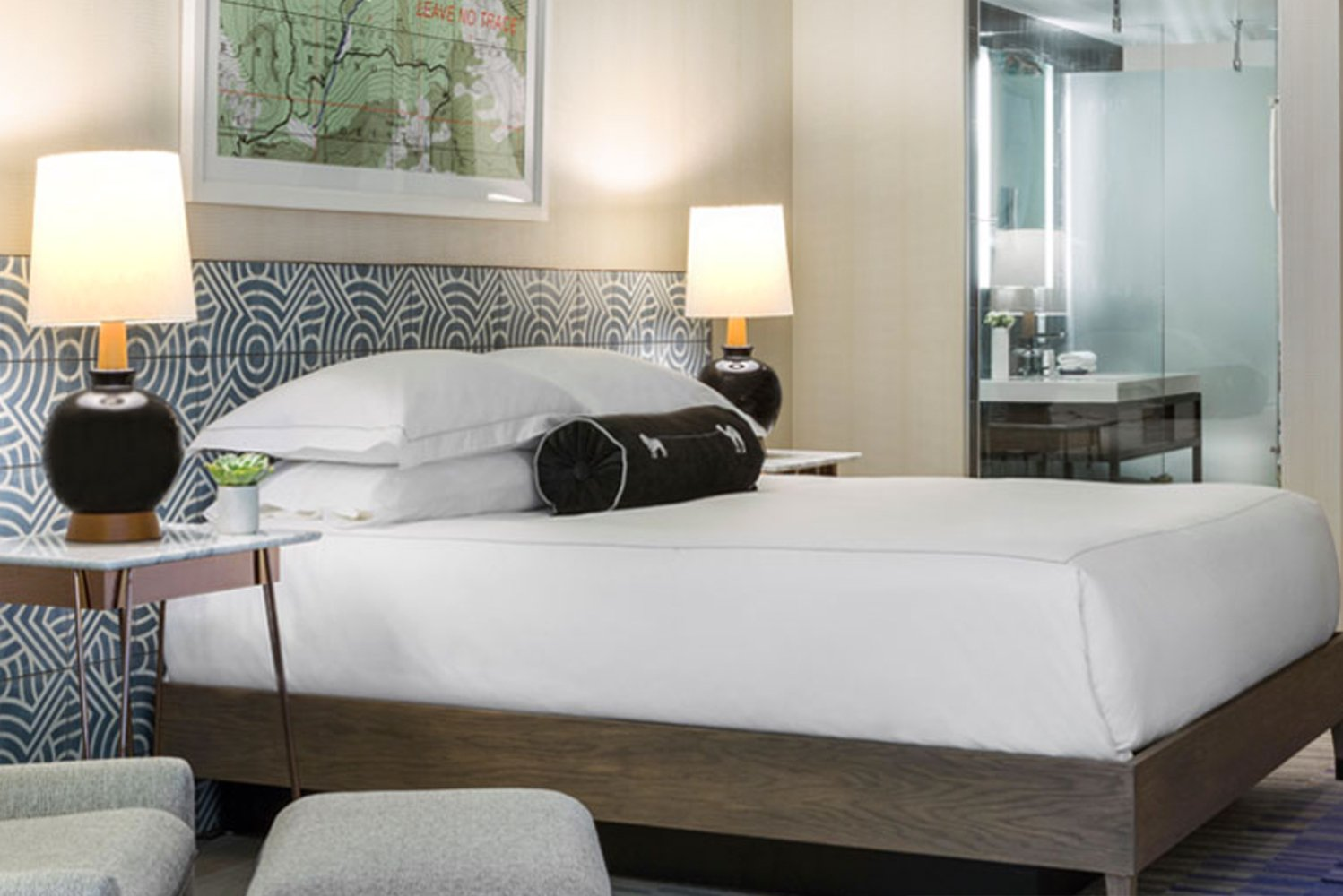 Design-wise, Kimpton The Rowan Palm Springs draws inspiration from the resurgence of the Midcentury Modern movement.