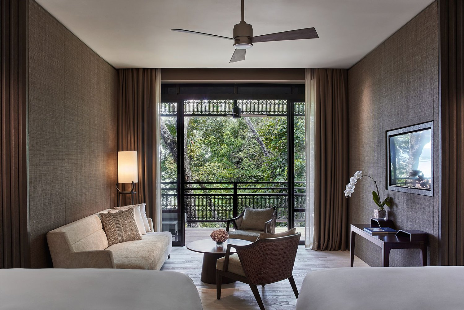 The Ritz-Carlton, Langkawi incorporates influences from local culture.