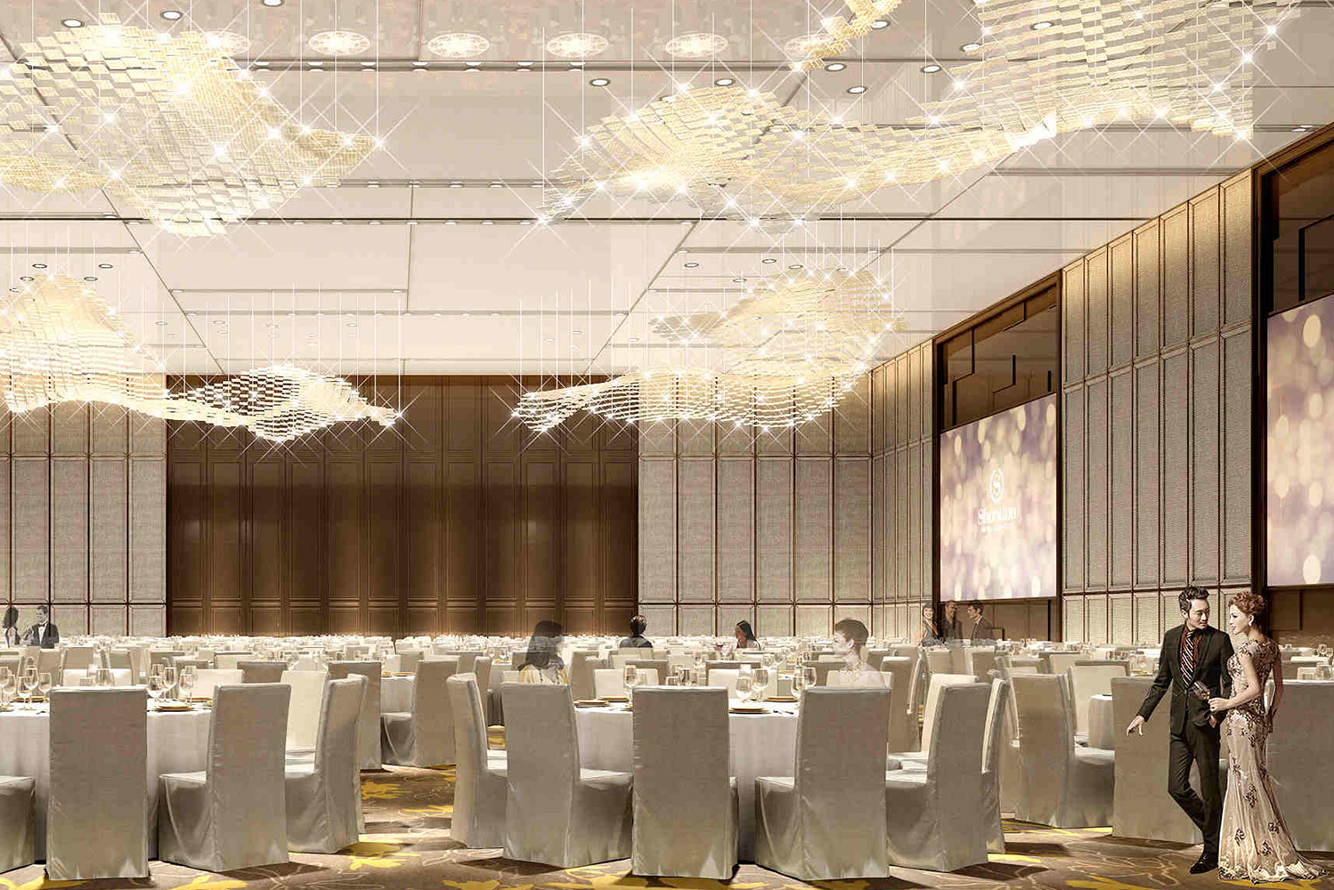 The hotel will have 11 flexible meeting and event spaces, including an Imperial Grand Ballroom .