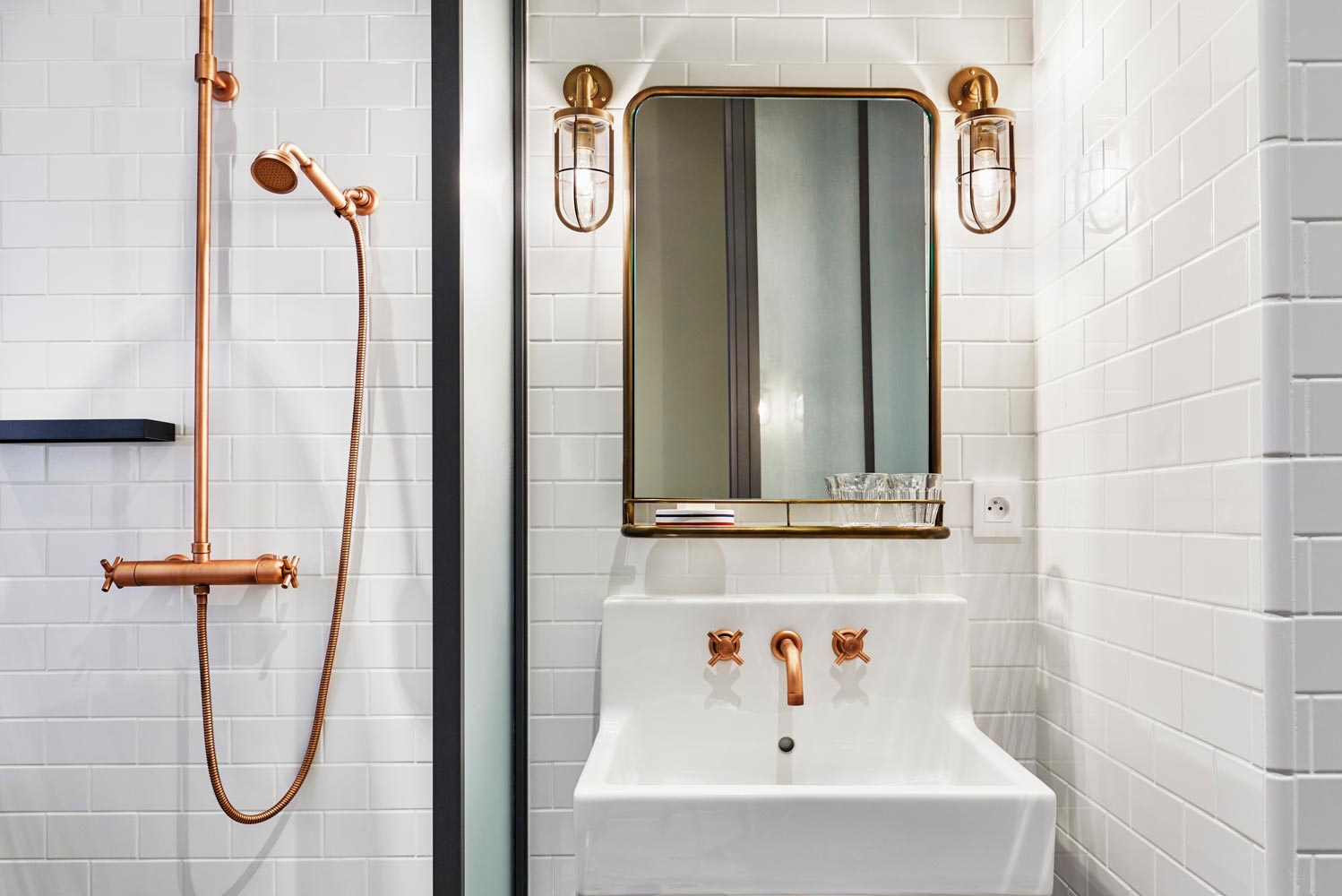 The hotel's classic French style is mixed with contemporary amenities.