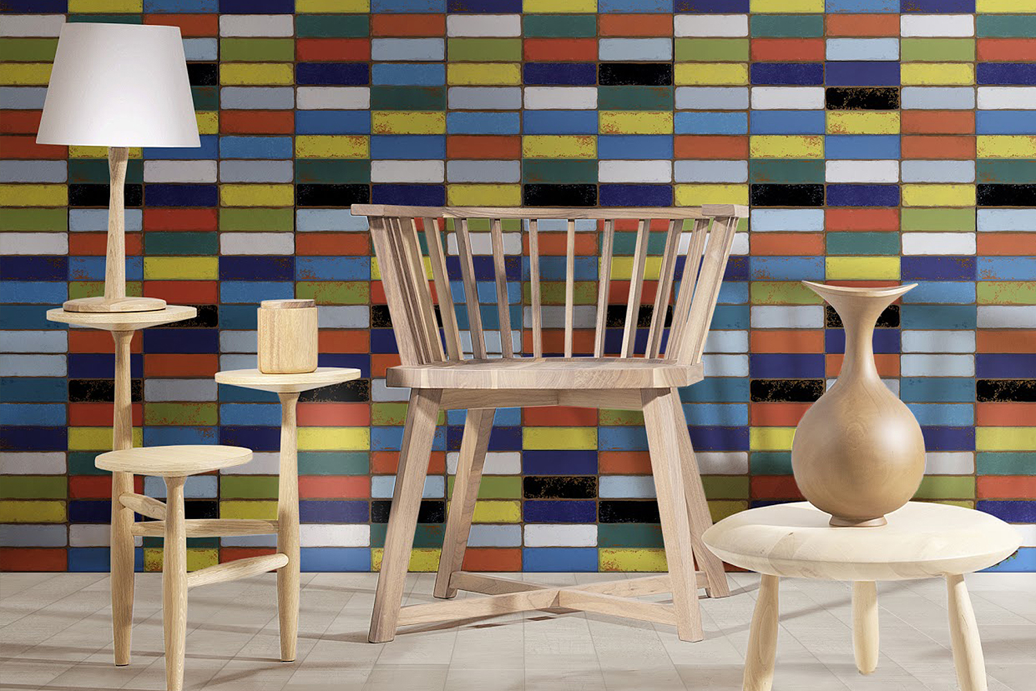 Designed to emulate the look of painted weathered brick, the new collection's 16 color options can be arranged in a variety of combinations.