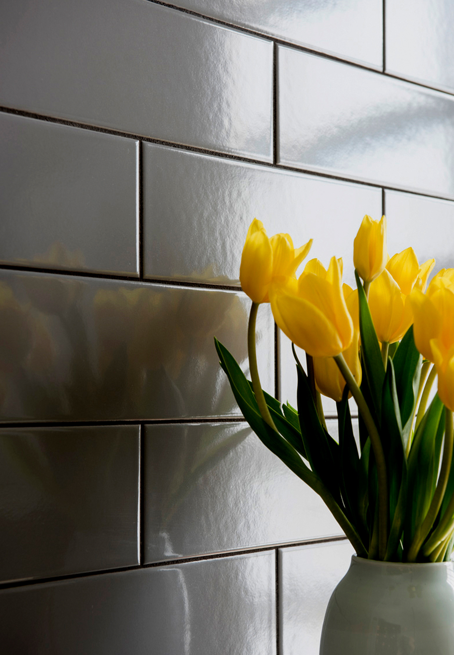 Made to withstand heavy use, the European-crafted tile is suitable for both walls and flooring.