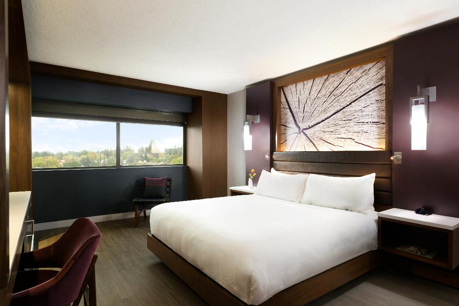 The hotel's 342 guestrooms were completely redone in a loft-style update.