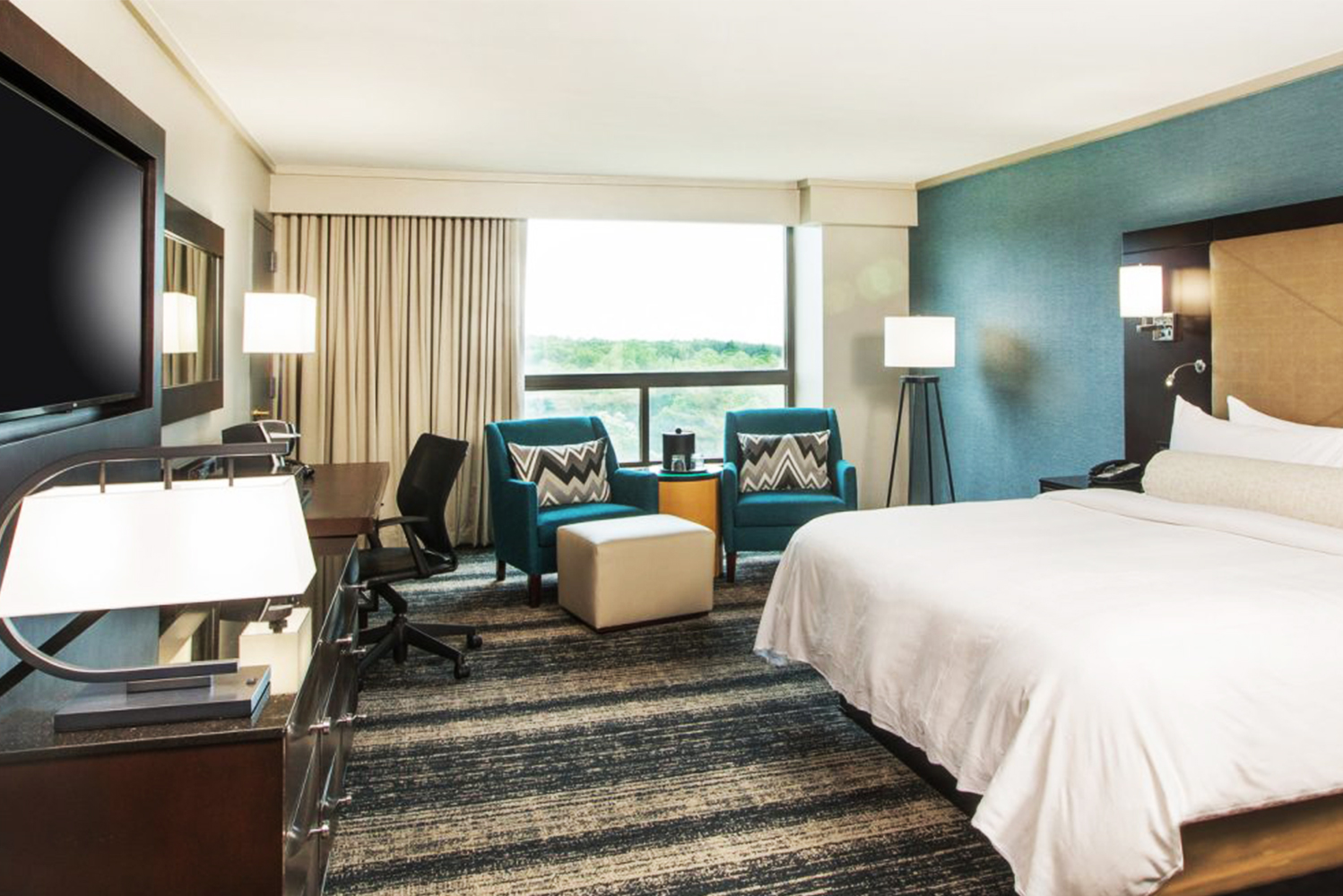 Boston Marriott Burlington completed a multi-phase transformation, which includes reimagined guestrooms.